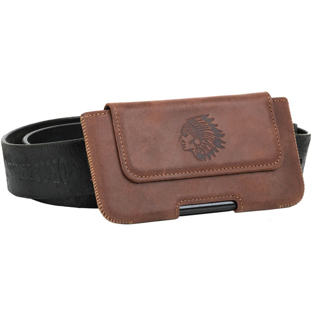 Belt case - Nut brown - Indian