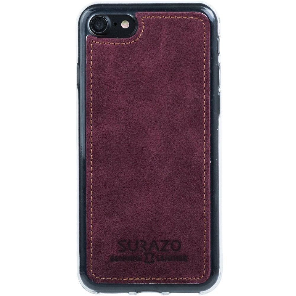 Surazo® Back case phone case Nubuck - Burgundy