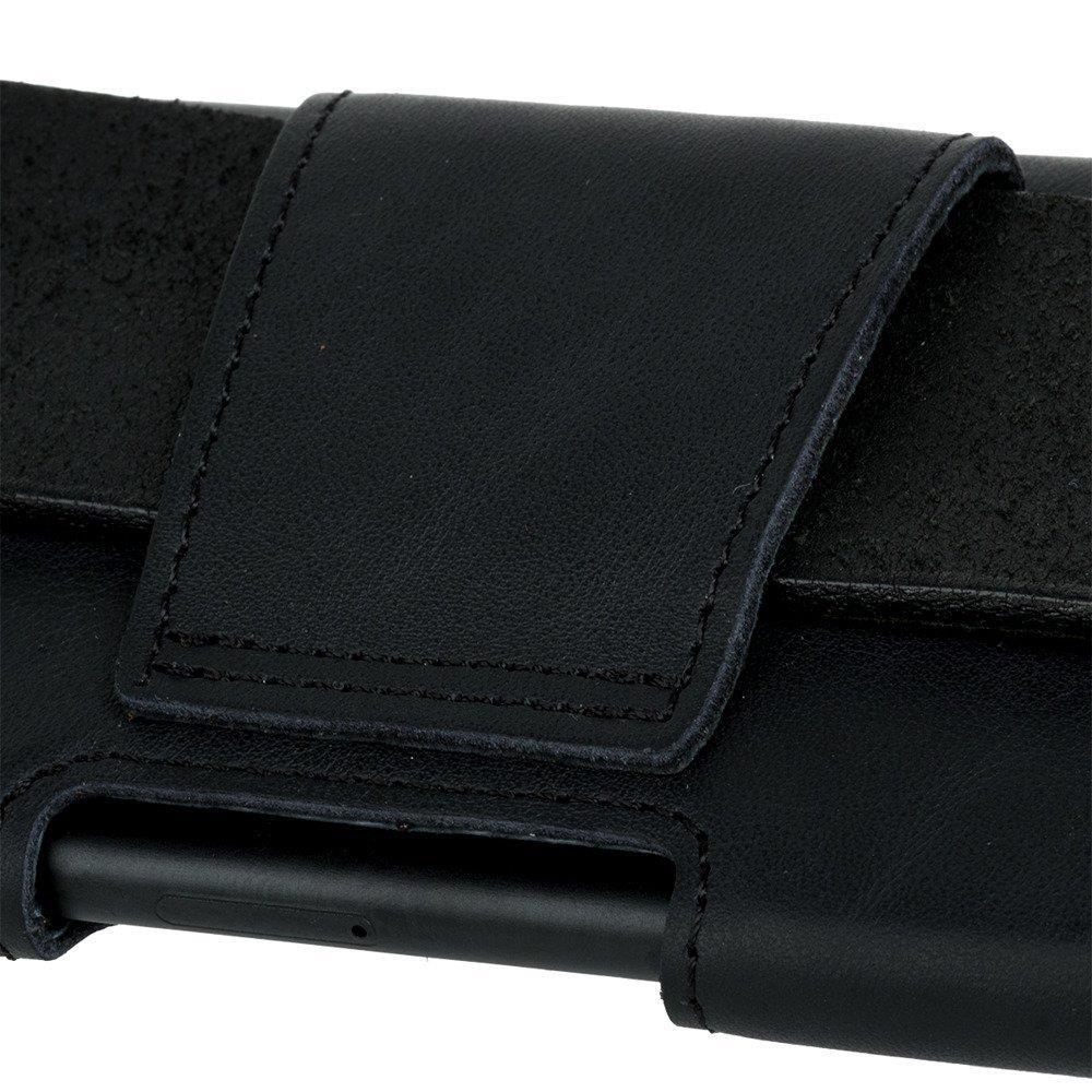 Surazo® Leather Belt Pouch case Dakota - Black