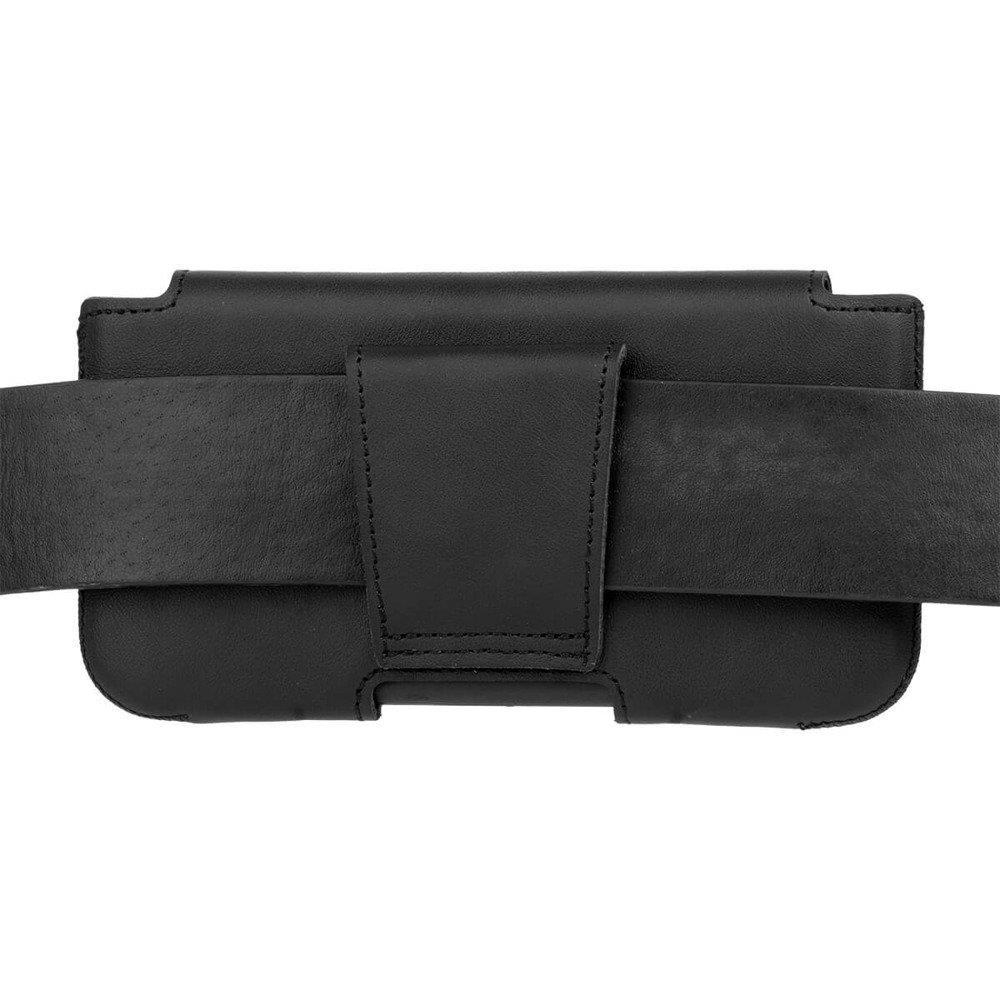 Surazo® Leather Belt Pouch case - Dakota Black - Pitbull