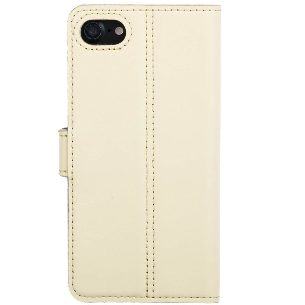 Surazo® Leather Wallet phone case - Pastel Yellow - Flowers