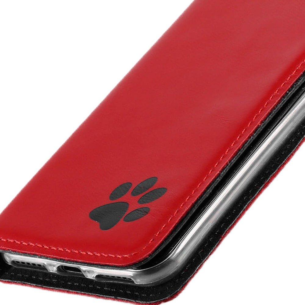 Surazo® Smart Magnet RFID case - Costa Red - Paw black