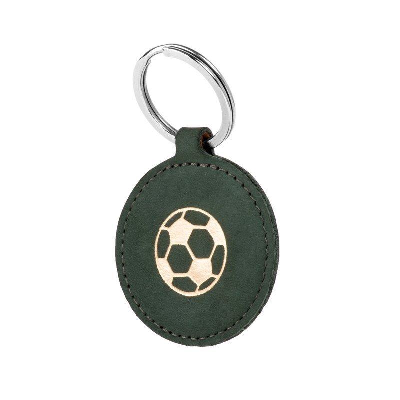 Surazo Smart Magnet RFID case - Nubuck Dark green - Soccer ball