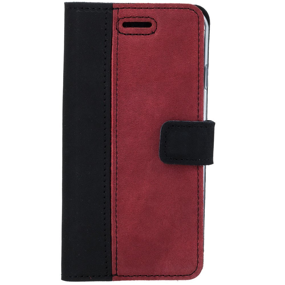 Surazo® Two-tone Wallet phone case - Black and Red