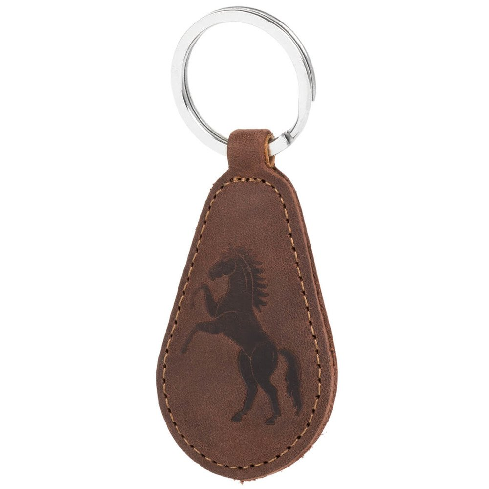 Surazo® Leder Gürtel Hülle Nubuk - Nussbraun - Pferd