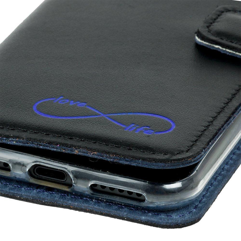 Wallet case - Costa Schwarz - Blau Unendlich