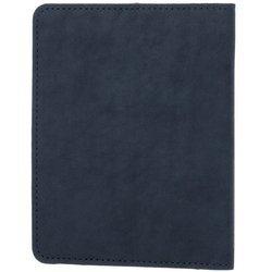 Bifold Leder Geldbörse RFID Nubuk - Marineblau