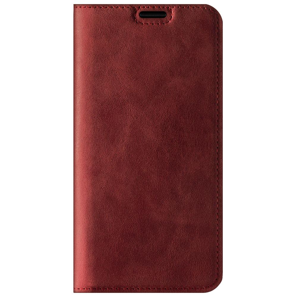 Surazo® Etui Smart Magnet RFID Nubuk - Czerwony