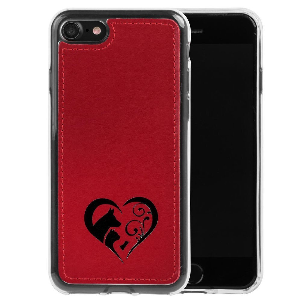 Surazo® Skórzane Etui Back case Costa - Czerwony - Animal love